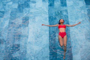 piscina aquecida com trocador de calor
